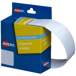 Avery Dispenser Labels Rectangle 49 x 24mm White 325 Pack