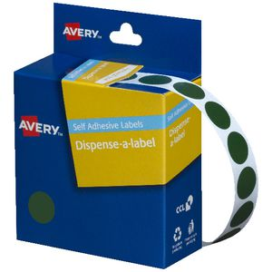 Avery self-adhesive Round Labels Green 14mm 1050 Pack