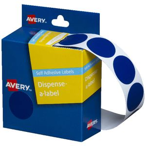 Avery Self-adhesive Round Labels Blue 24mm 500 Pack