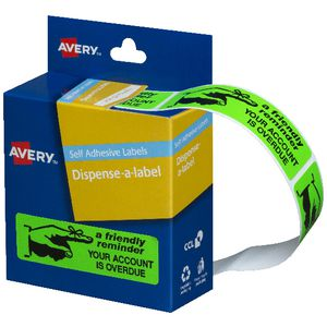 Avery 'Friendly Reminder' Printed Labels 19 x 64mm 125 Pack
