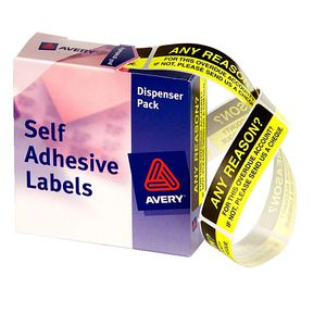 Avery Pre Printed Dispenser Labels Any Reason 125 Pack