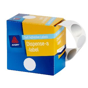 Avery Dispenser Labels 24mm Silver 250 Pack