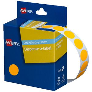 Avery Dispenser Labels 14mm Orange 700 Pack