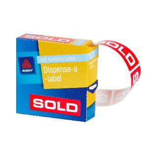 Avery Pre Printed Dispenser Label Sold 250 Pack