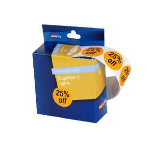 Avery Pre-printed Dispenser Label '25% Off' 24mm 500 Pack