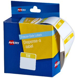 Avery Dispenser Labels Tuesday Teal 100 Pack