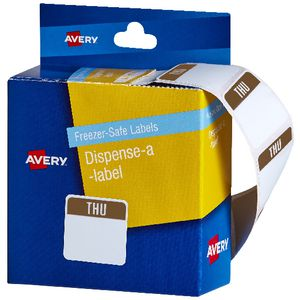 Avery Dispenser Labels Thursday Purple 100 Pack