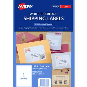 Avery Laser Shipping Labels 1UP 100 Sheets