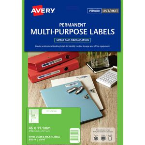 Avery Laser Mini Labels White 25 Sheets 84 Per Page