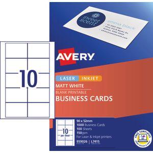 Avery business cards matt white 100 sheets 10 per page officeworks avery business cards matt white 100 sheets 10 per page colourmoves