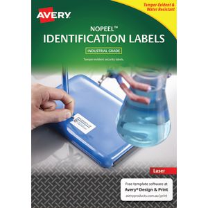 Avery NoPeel Labels White 24 UP 10 Pack