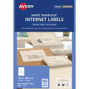 Avery Internet Shipping Labels 1 Per Page 10 Pack