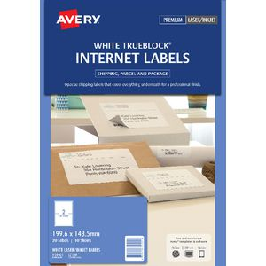 Avery Internet Shipping Labels 2 Per Page 10 Pack