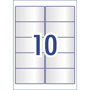 Avery 10UP Crystal Clear Rectangle Labels 100 Pack | Officeworks