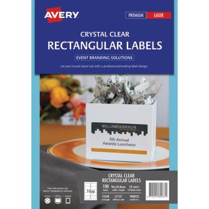Avery Rectangle Labels 96 x 50.8mm Clear 120 Pack