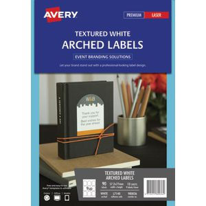 Avery Arched Labels 57.2 x 77mm White 90 Pack