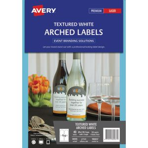 Avery Arched Labels 89 x 120.7mm White 40 Pack