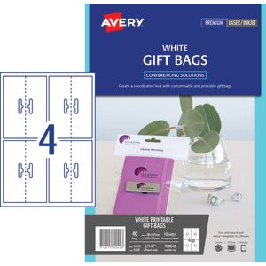 Avery Bag Toppers White 40 Pack