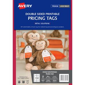 Avery double-sided Printable Pricing Tags 89 x 51mm 50 Pack