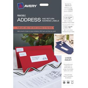 Avery Matte White Address Labels Kit 258 Pack