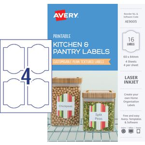 Avery Rectangle Labels 60 x 84mm White 16 Pack