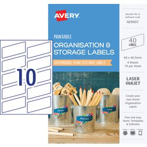 Avery Rectangle Labels 66 x 46.5mm White 40 Pack