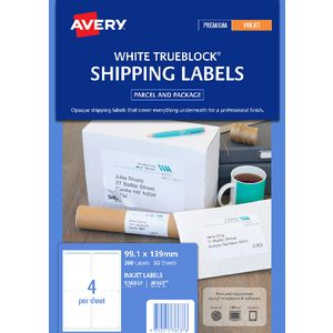 Avery Mailing Labels 50 Sheets 4 Per Page White
