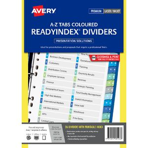 Avery Manila Table of Contents Dividers with A-Z Tabs