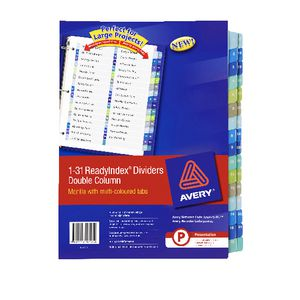 Avery Manilla Table of Contents Dividers with A-Z Tabs