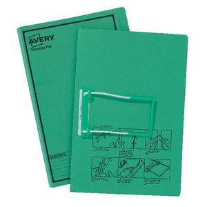 Avery Foolscap Tubeclip File Green