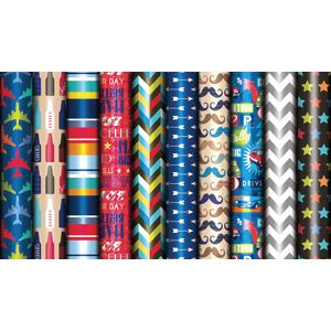 Artwrap Wrap Roll 3m x 700mm Assorted Designs