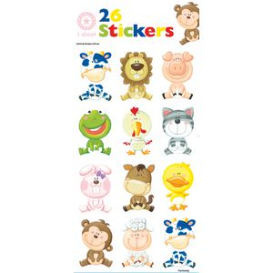Artwrap Sticker Sheet Baby Animals