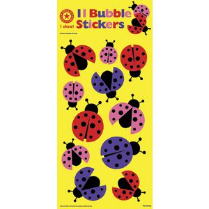 Artwrap Bubble Stickers Ladybird