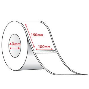 Thermal Direct Labels 100 x 150mm 350 Labels 12 Pack