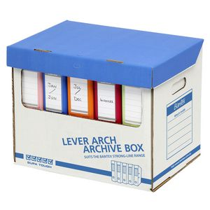 Bantex A4 Lever Arch File Archive Boxes 12 Pack