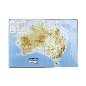 Bantex Desk Pad Map of Australia