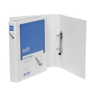 Bantex A4 2 D-Ring Insert Binder 25mm Lever White 25 Pack