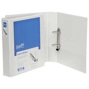 Bantex A4 2 D-Ring Insert Binder 38mm Lever White 15 Pack