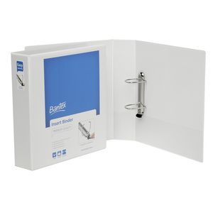 Bantex A4 2 D-Ring Insert Binder 50mm Lever White 12 Pack