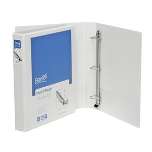 Bantex A4 3 D-Ring Insert Binder 25mm Lever White 25 Pack