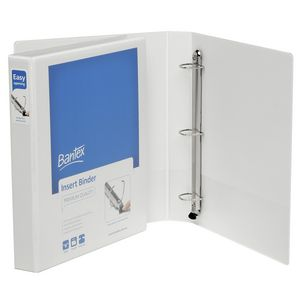 Bantex A4 3 D-Ring Insert Binder 25mm Push Lever White