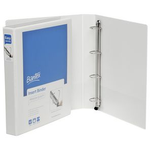 Bantex A4 4 D-Ring Insert Binder 25mm Lever White 25 Pack