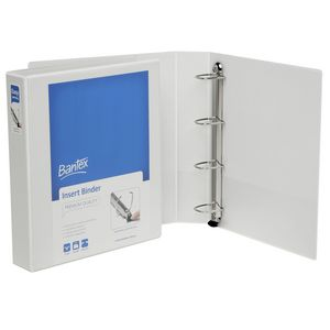 Bantex A4 4 D-Ring Insert Binder 38mm Push Lever White