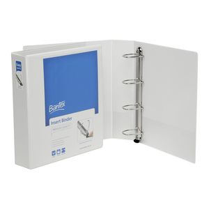 Bantex A4 4 D-Ring Insert Binder 50mm Lever White 12 Pack