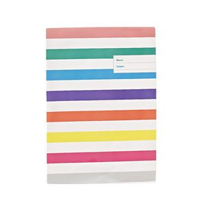 Book Cover A4 Rainbow Stripe