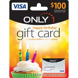 Visa Only 1 Gift Card Birthday $100