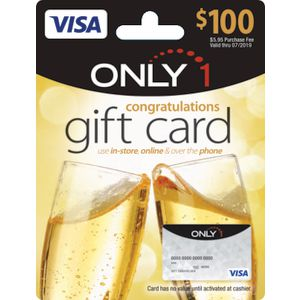 Visa Only 1 Gift Card $100 Congrats