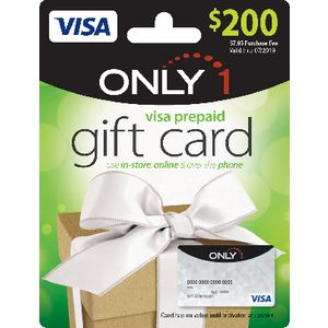 Visa Only 1 Gift Card $200