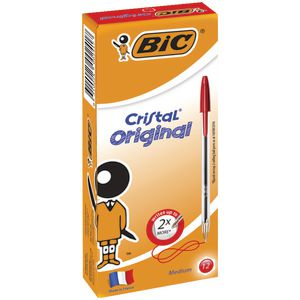 BIC Cristal Ballpoint Pens Red 12 Pack