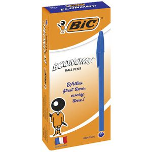 BIC Economy Medium Ballpoint Pens Blue 12 Pack